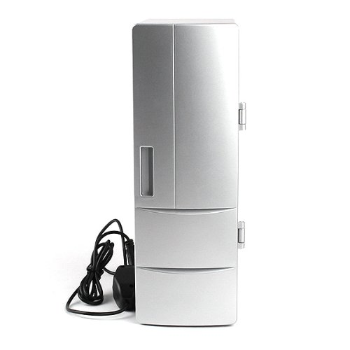 USB Fridge Cooler & Warmer, HQF® Mini USB-Powered Beverage Drink Cans Cooler/Warmer Refrigerator [Keep Warm and Cold] for PC Laptop Car Home office (Silver, Medium) by HQF (Image #3)