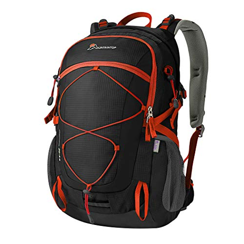 Mountaintop 40 Liter Unisex Hiking/Camping Backpack (Black1)