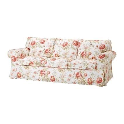 ikea ektorp pixbo three seat sofa bed cover byvik multicolour rh amazon co uk