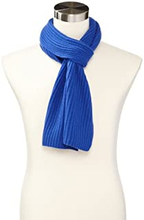 Williams Cashmere Men's Ribbed Scarf, Electric Blue, One Size (B00EOI1L6Q) | Amazon price tracker / tracking, Amazon price history charts, Amazon price watches, Amazon price drop alerts