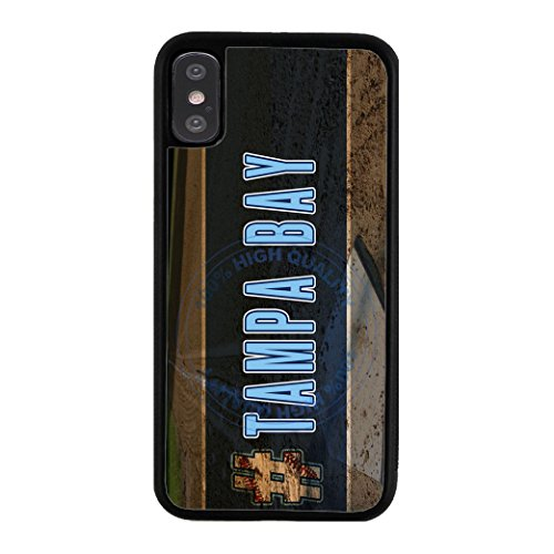 BleuReign(TM) Hashtag Tampa Bay #TampaBay Baseball Team TPU RUBBER SILICONE Phone Case Back Cover For Apple iPhone X Ten