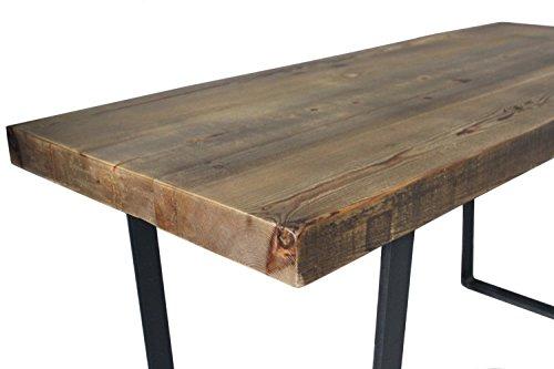 Dining Table Reclaimed Wood Industrial Steel Rustic Modern