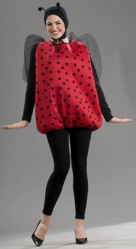 Adult Ladybug Wings (Women's Lady Bug Costume, Black/Red, One Size)