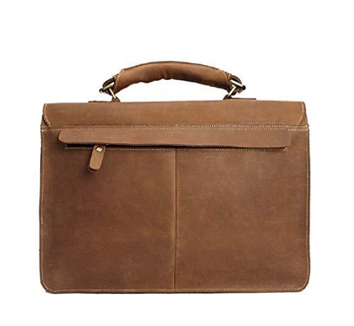 messenger business strato Crazy borsa valigetta 15 Borsa pelle casual vintage pelle borsa Xwh in in 1 pollici 2 Horse primo uomo uomo qwxTwO7vt