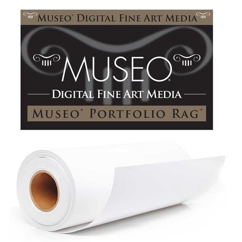 Museo Portfolio Rag Fine Art Archival Inkjet Paper for Digital Printing, Extra Smooth Matte Surface, 300 gsm, 15 mil, 44
