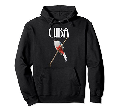 Unisex Cuba Hoodie Sweater Trogon Cuban Cubano Cubana Bird Flag 2XL Black