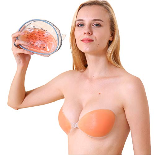 cf41b335f6fa5 Tidetell Self Adhesive Silicone Bra Strapless Reusable Invisible Push-up Bra  (FBA) - Buy Online in Oman.