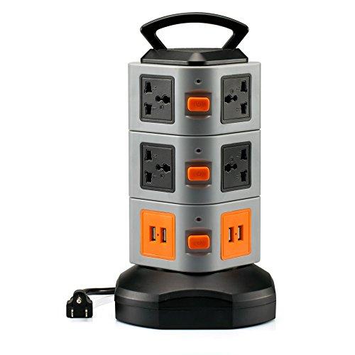 Anmire Multi sockets Worldwide Universal Office Black product image