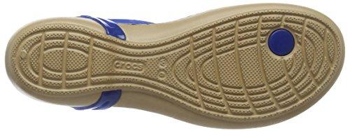 blue Mujer T Jean Con Azul strap Para Vertical Crocs animal Tira Graphic Isabella Sandalias WgzPBx