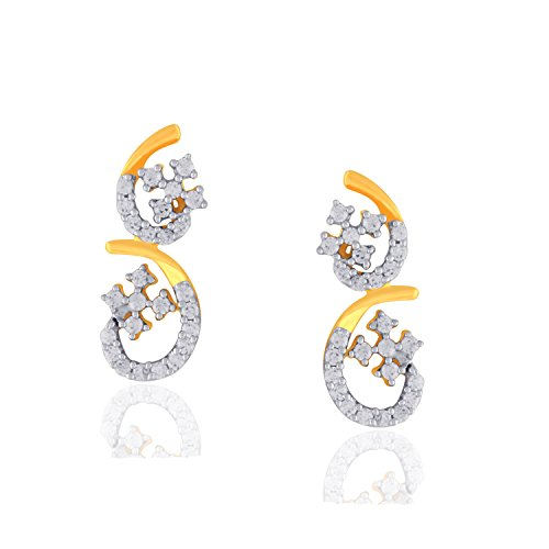Giantti 14 carats Diamant pour femme Dangler Boucles d'oreilles (0.7444 CT, VS/Si-clarity, Gh-colour)