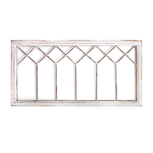 (Stratton Home Decor -- Dropship, us home, SUHQX Stratton Home Distressed Window Panel Wall Decor Décor, Distressed White)