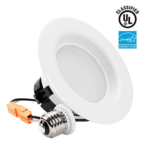TORCHSTAR Wet Location 4-inch Dimmable Recessed LED Downlight, 13W (85W Equiv.), High CRI, ENERGY STAR, 5000K Daylight, 800lm, Retrofit LED Recessed Lighting Fixture, 5 YEAR WARRANTY