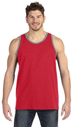 Anvil Lightweight Tank Top. 986 Red XL (Top Tank Mens Anvil)