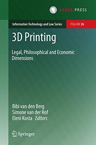 3D Printing: Legal, Philosophical and Economic Dimensions (Information Technology and Law Series)