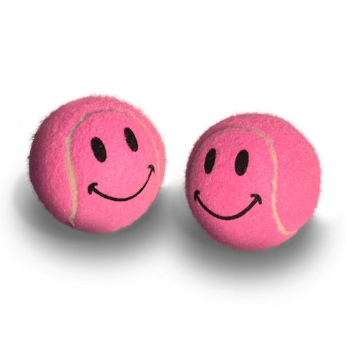 Pre-cut Walker Glide Balls - 15 Colors & Styles (Smiley - - Style Pink