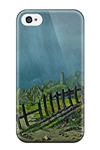 Best Iphone 4/4s Case Cover - Slim Fit Tpu Protector Shock Absorbent Case (landscape)