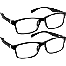 Computer Reading Glasses 0.75 _ Black 2 Pack Protect Your Eyes Against Eye Strain, Fatigue and Dry Eyes from Digital Gear with Anti Blue Light, Anti UV, Anti Glare, and are Anti Reflective