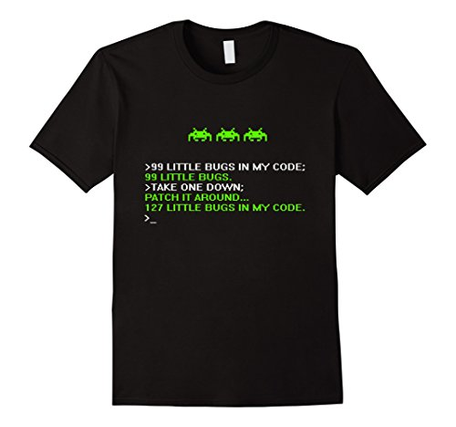 Men's Debugger Funny Shirt - Programmer - coding - Hacker Small Black