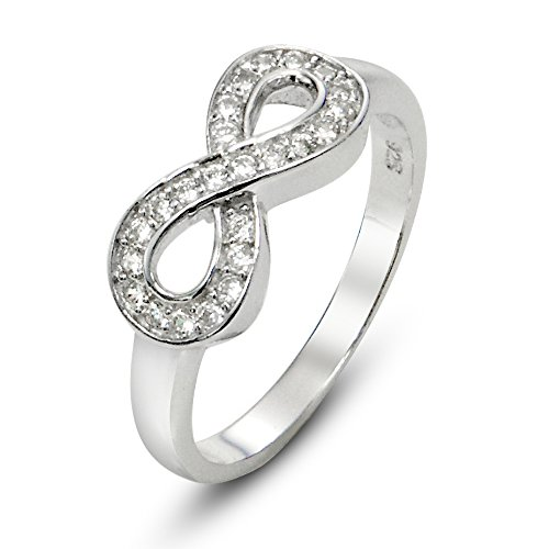 Sterling Silver Zirconia Infinity Symbol product image