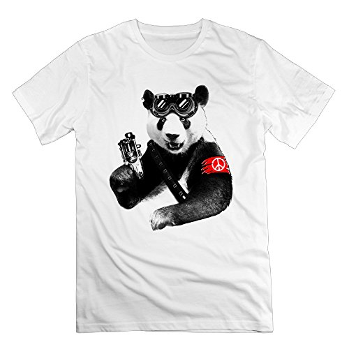 Men's Panda Rebel Panda Rebel Graphic Design Colleges Teeshirt