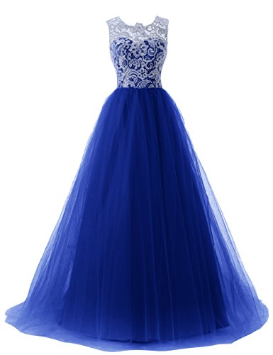 Dressystar Straps Bridesmaid Dresses Prom Gowns with Buttons on Back Size 24W Royal blue