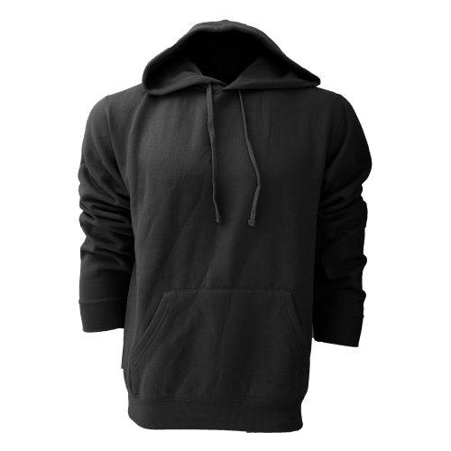 Russell Colour Mens Hooded Sweatshirt / Hoodie (L) (Black) (Hoody Russell Athletics Sweatshirt)