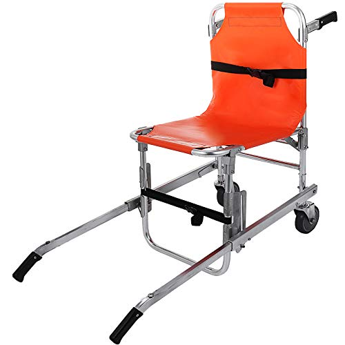 Happybuy Stair Chair EMS Emergency Evacuation Medical Lift Chair 2 Wheels Light Weight Ambulance Medical Lift Stair Chair with Quick Release Buckles