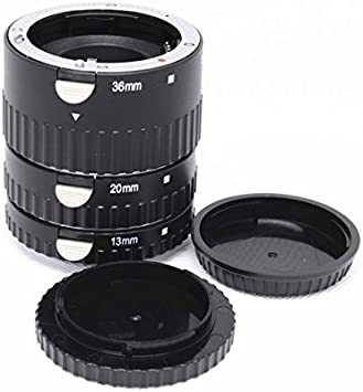 Fotodiox Macro Extension Tube Set Kit for Extreme Close-up for Sony A-Series Alpha Digital SLRs A560 A450 A65 A350 A230 fits Sony A100 A200 A57 A55 A37 A290 A300 A33 A580 A330 A550 A390 A850 A700 A380 A900 A500 SLT-A35 A77