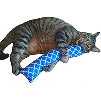 "15 in. Giant Catnip Kitty Kicker Stix / Catnip Kicker Toy / Cat Kicker ""With No Catnip Pocket"" (Blue#2)"