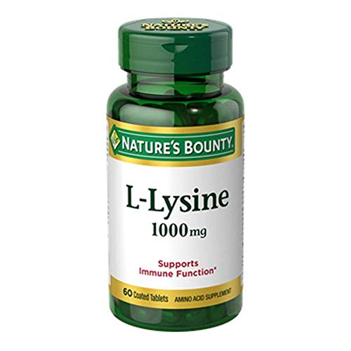 Nature's Bounty L-Lysine, 1000mg, 120 Tablets (2 x 60 Count ()