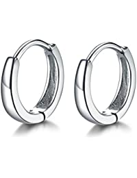 MASOP Hypoallergenic 13mm Tiny Small Hoop Earrings for Cartilage Women Girls 925 Sterling Silver