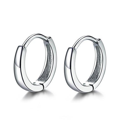MASOP 925 Sterling Silver Hoop Earrings for Cartilage Hypoallergenic Tiny Small Earrings Girls Women