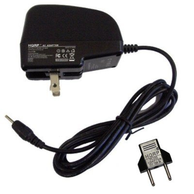 HQRP Travel AC Power Adapter Cord for Kodak EasyShare C300, C633 C643 C653 C663 C703 C743 C875 CX4210 Digital Camera plus Euro Plug Adapter