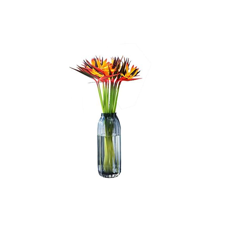 silk flower arrangements artificial flowers 5 pcs elegant bird of paradise tropical imitation plant flower bouquets for home party decorations - warmter