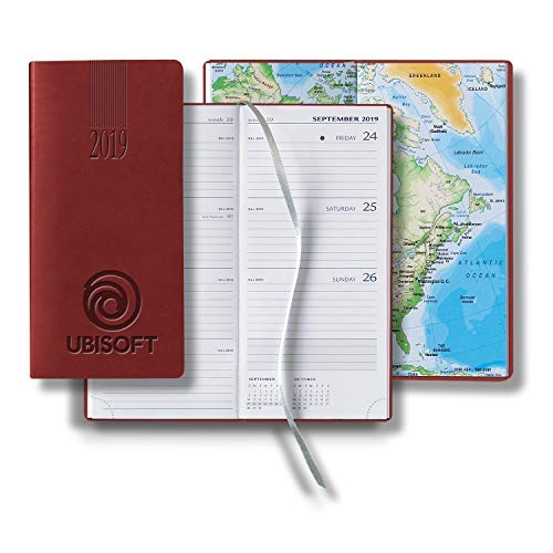 - Business Planner & Journal-Personalized Tucson Pocket Upright Weekly- BULK (100 Quantity, Red)