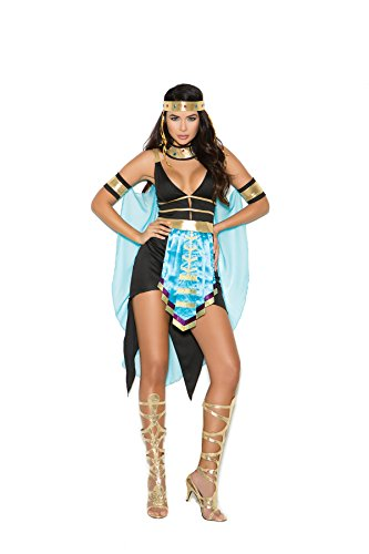 Women's Sexy Queen of Egypt Cosplay Costume Set Black/Turquoise ()
