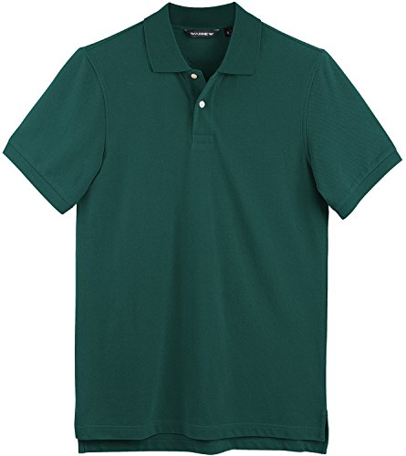 WANNEW Polo Shirts for Men - Mens Polo Shirt Cotton -Short Sleeve Polo Regular-Fit (M, Army Green)