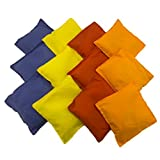 Adorox Set of 12 Assorted 5'' Nylon Bean Bags Cornhole Primary Colors Carnival Game