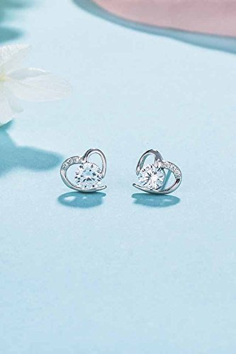 Generic silver _age_love_925_ silver _with_cubic_zirconia_ silver earrings Earring eardrop ear Nail women girl _sweet_little hair Clip,_the ear jewelry