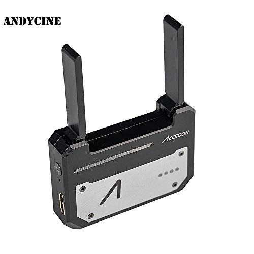 (ANDYCINE Accsoon CineEye WiFi HDMI Transmitter 1080p 5G Wireless Image Transmission to 4 Devices Support Android & iOS Within 100m, Grayscale, RGB, False Color, 3D LUT Loading, W/ANDYCINE Cloth)