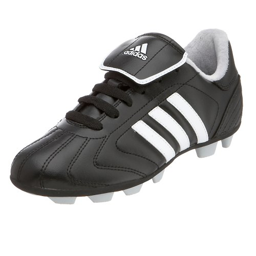 adidas Little Kid/Big Kid Telstar TRX Hard Ground Soccer Shoe,Black/White/Silver,5 M US Big Kid