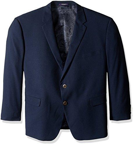 Adolfo Men's Classic Portly Blazer, Solid Navy, 48 Regular