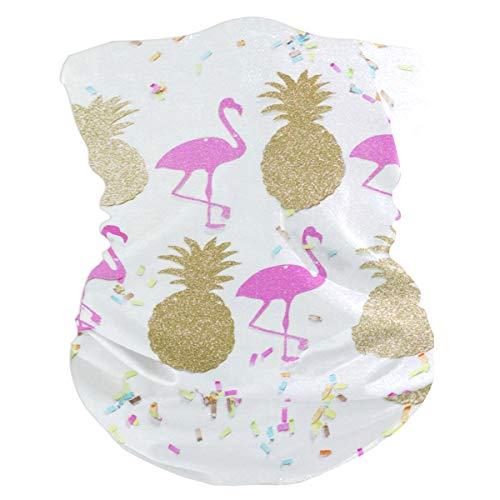 Lovexue Flamingo & Pineapple Headband Womens Bandana Multifunctional Mens Balaclava, Neck Warmer, Face Mask, Tube Facemask (Kit Hood Dust Extraction)