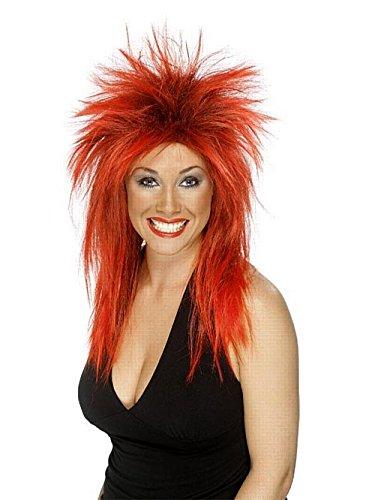 IdealWigsNet Rock Diva Wig rosso & nero