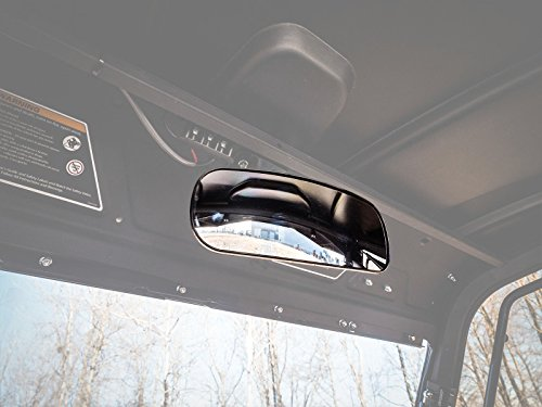 SuperATV Heavy Duty Fully Adjustable Rear View Mirror For Can-Am Defender HD 5/8 / 10 / DPS/XT / Cab/XMR / MAX/XTP -  SuperATV.com, MIR-CA-DEF-001
