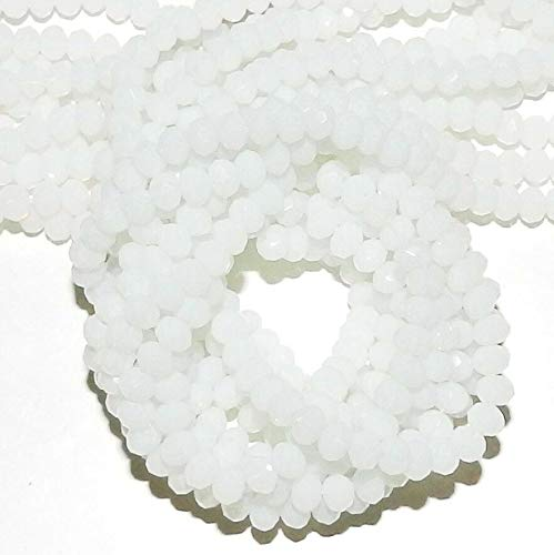 (Rondelle Faceted Cut Crystal Glass Bead 12