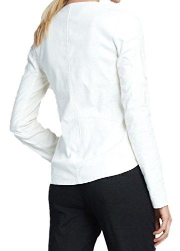 Piel 3xl Chaqueta Ttll853 Blanco Trendtales Mujer De Cordero Para U7Uwaqx