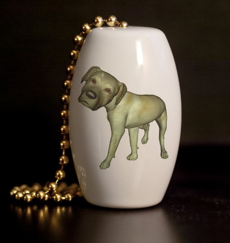Mega Noggin Yellow Labrador Dog Porcelain Fan / Light Pull (Yellow Labrador Porcelain)