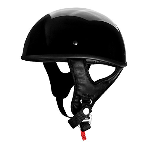 (Gloss Black Motorcycle Skid Lid Helmet)