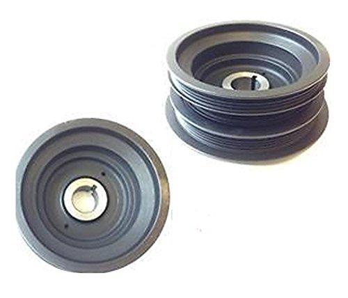 (DTA D12303-4S100 Premium Harmonic Balancer Crankshaft Pulley OE Replacement Fits 1999-2004 Nissan Frontier 3.3L V6; 2000-2004 Nissan Xterra 3.3L V6)